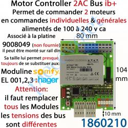 1860210 Motor Controller 2AC 230 VAC Bus IB+ Modèle PCB (Montage en Armoire sur Rail Din)