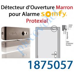 1875057 Détecteur d'Ouverture Nouveau Design Coloris Marron pour Alarme Protexial