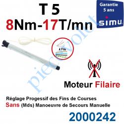 2000242 Moteur Simu Filaire 8/17 T5