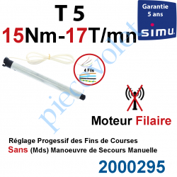 2000295 Moteur Simu Filaire 15/17 T5