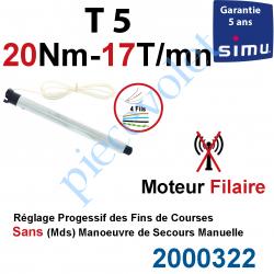 2000322 Moteur Simu Filaire 20/17 T5