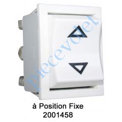 2001458 Inverseur Apem (Mécanisme seul) Unipolaire à Position Fixe Coloris Blanc