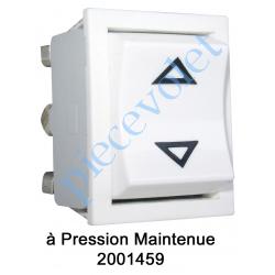 2001459 Inverseur Apem (Mécanisme seul) Unipolaire à Pression Maintenue Coloris Blanc