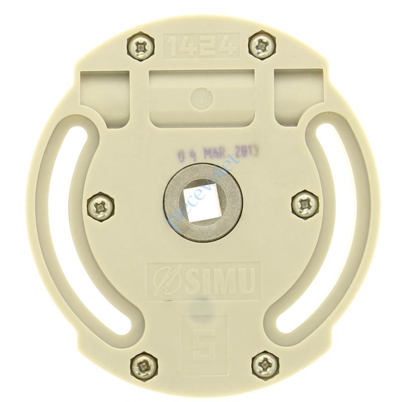 2002139 Treuil 1424 Entrée Hexa 7 Femelle Sortie Carré 10 Femelle Av FdC Réd 1/5 Ep 24