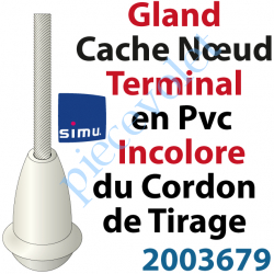2003679 Cache Noeud du Cordon en Forme de Gland en Pvc Blanc