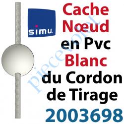 2003698 Cache Noeud du Cordon en Forme de Boule en Pvc Blanc