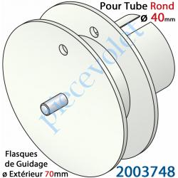 2003748 Poulie de Cordon ou de Sangle ø 70 mm Emb Rond à Goutte ø 40 Lg Entre Flasque 14 mm Pivot Ext diamètre 6 mm