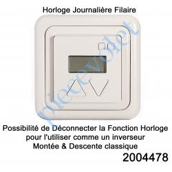 2004478 Horloge et Inverseur Journalier Individuel Filaire