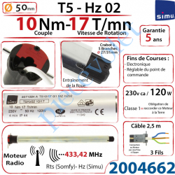 2004662 Moteur Simu Radio Hz02 10/17 T5