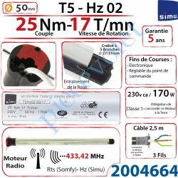 2004664 Moteur Simu Radio Hz02 25/17 T5