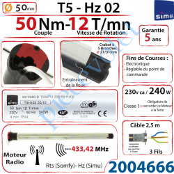 2004666 Moteur Simu Radio Hz02 50/12 T5