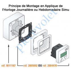 2005092 Horloge & Inverseur Hebdomadaire Individuel Filaire