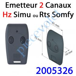2005326 Emetteur Nomade Tsa Hz 2 Canaux Rts Coloris Noir