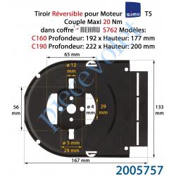 2005757 Support Moteur T5 Simu en Forme de Tiroir pour Rehau S762