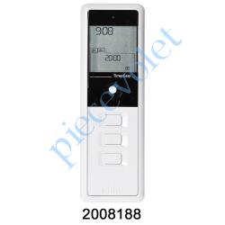 2008188 Emetteur Nomade Timer Easy 1 Simu Hz-Rts Blanc (1 canal) à Programmation Facile