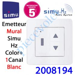 2008194 Emetteur Mural Color+ Aspect 2013 Simu Hz-Rts Blanc (1 canal)