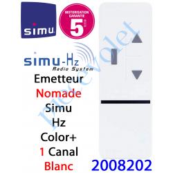 2008202 Emetteur Nomade Color+ 1 Aspect 2013 Simu Hz-Rts Blanc (1 canal)