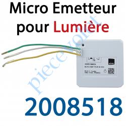 2008518 Micro Emetteur Séquentiel Simu Hz ou Somfy Rts Blanc (1 canal)