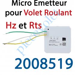 2008519 Micro Emetteur pour Volet Roulant Simu Hz ou Somfy Rts (1 canal)