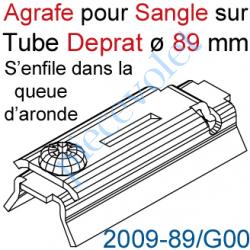 2009-89/G00 Agrafe Pince à Glisser dans Queue d'Aronde pour Tube Deprat de 89