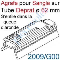 2009/G00 Agrafe Pince à Glisser dans Queue d'Aronde pour Tube Deprat de 62