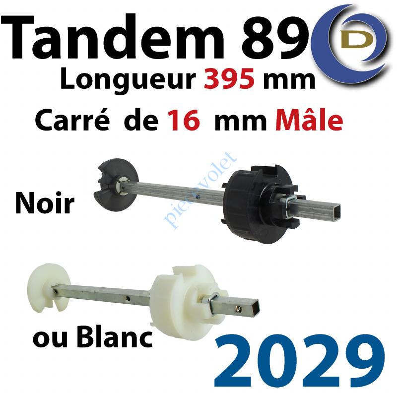2029 Tandem Deprat 89 Axe Car 16 Mâle 2 Roues Lg 395 Régl 100mm Pds Tab Max 60ou100kg