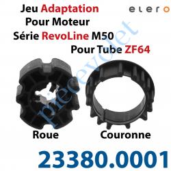 23380.0001 Jeu d'Adaptation pour Moteur Elero Série RevoLine M 50 au Tube Zf 64 en 5 à 8/10ème