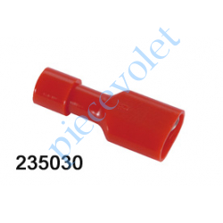 235030 Cosse Rouge Femelle Isolée pour Languette 6,35 mm