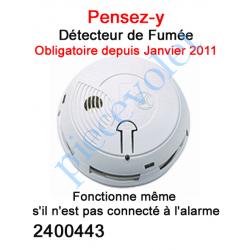 2400443 Détecteur de Fumée Protexial ou Indépendant Blanc