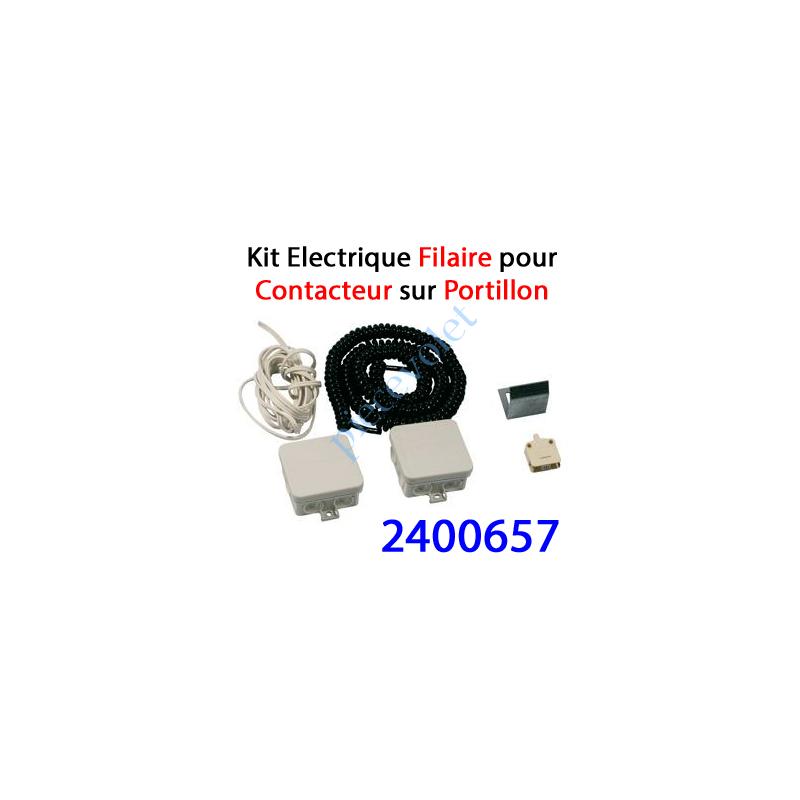 2400657 Contact Electrique Filaire sur portillon de Porte Basculante ou Sectionnelle
