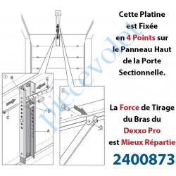 2400873 Platine Réglable de Renfort à Fixer sur le Panneau de Porte Sectionnelle pour Attacher Bras Dexxo Pro