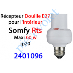 2401096 Récepteur Douille E27 intérieure Rts ip 20 Puissance Maxi 60 w