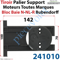 241010 Tiroir Palier Support pour Moteur Toutes Marques dans Bloc Baie Bubendorff