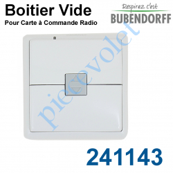 241143 Boitier Vide pour Emetteur Mural Bubendorff CRG ASS