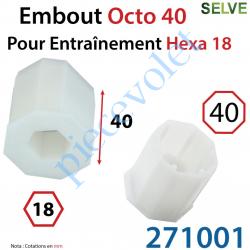 271001 Embout Octo 40 pour Entraînement Hexagonal de 18 mm Femelle Longueur 40 mm