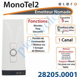28205.0001 Emetteur Nomade MonoTel 2 Avec Retour d'informations Coloris Blanc 1 Canal