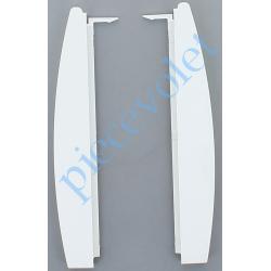 286988 Embouts de Trappe de Visite pour Coffre Rehau S762 C160 Col Blanc (Paire)