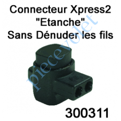 300311 Connecteur Xpress 2 Conducteurs Section 0,5à 2,5 mm² suiv Fil Intensité Maxi 30A