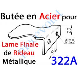 322A Butée de Lame Finale pour Rideau Métallique en Acier Zingué
