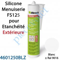 396399 Silicone Menuiserie FS125 pour Etanchéité Extérieure Coloris Blanc ± Ral 9016 en Cartouche de 310 ml