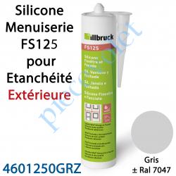 396405 Silicone Menuiserie FS125 pour Etanchéité Extérieure Coloris Gris ± Ral 7047 en Cartouche de 310 ml