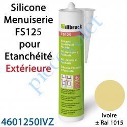 396410 Silicone Menuiserie FS125 pour Etanchéité Extérieure Coloris Ivoire ± Ral 1015 en Cartouche de 310 ml