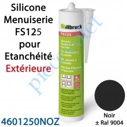 396415 Silicone Menuiserie FS125 pour Etanchéité Extérieure Coloris Noir ± Ral 9004 en Cartouche de 310 ml
