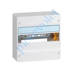 401211 Coffret Drivia en Appl 1 Rang 13 Mod Plast Ss Porte ip30 ik05 Coloris Blanc ± Ral 9003