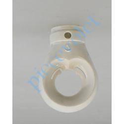 418E130 Anneau Geiger pour Treuil ø 10mm ou Hexa 10 Femelle Percé ø 4 mm pr Goupille en Plastique Blanc