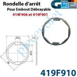 419F910 Rondelle pour Embout Débrayable 419F901