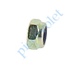 438016 Ecrou Hexagonal Avec Frein Zingué Pas Métrique de 6 mm Din 985