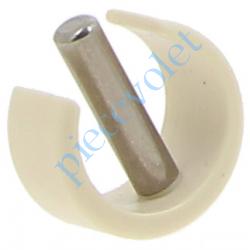 510E705 Clips de Blocage en Plast Beige Avec Goupille Cylindrique Inox pr Tube ø Ext 15,16 ou 17 mm