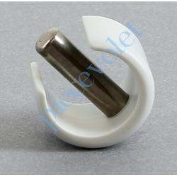510E752 Clips de Blocage en Plast Gris Avec Goupille Cylindrique Inox pr Tube ø Ext 12 ou 13 mm