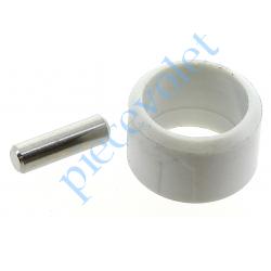 510F992 Goupille Cylindrique Inox & Bague de Blocage Grise pour Tube ø Ext 13 mm